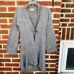 One A Gray Sweater Knit Cardigan